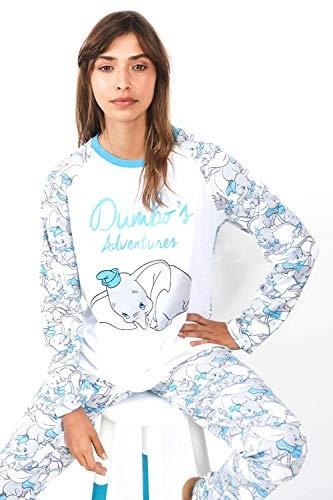 Disney Pijama Mujer Dumbo Manga Larga Algodón (L