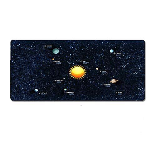 33 * 80cm großes Mauspad Universum Universum Sternenhimmel Familie Laptop Gamer Gummi Mausmatte Mousepad Schreibtisch Gaming Mousepad Cup Mat - A.
