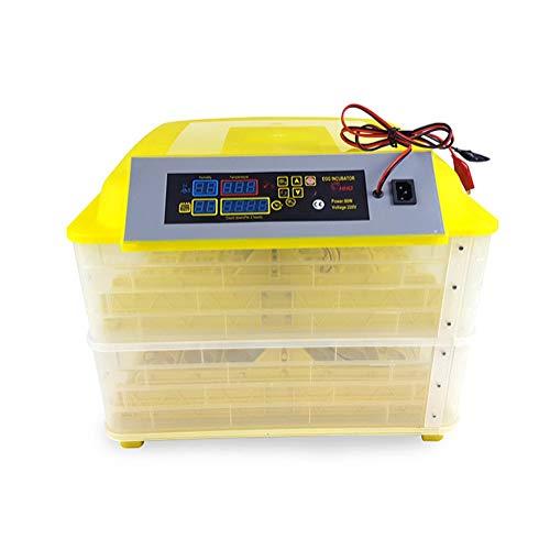 Inkubator Vollautomatische, Dual Power Intelligentes Digital Temperaturanzeige Und Feuchtigkeitsregulierung Zum Huhn Ente Gans Wachtel,112 Eier