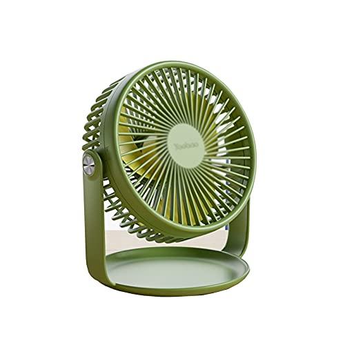 Pequeño Mini Ventilador Eléctrico, USB Silencioso, Escritorio, Hermoso Y Práctico, Plástico, Portátil, Adecuado para Dormitorio, Estudio, Al Aire Libre, Hermoso (Color : Green)