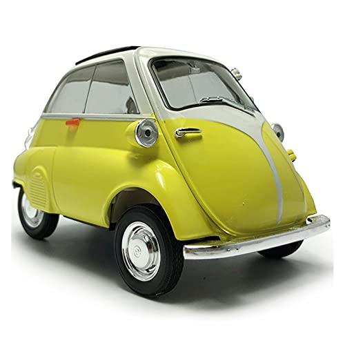 aleación presión fundición coche modelo Kit Para Isetta1: 18 escala amarillo Vintage 1955 modelo de coche de juguete de aleación de Metal fundido a presión vehículo modelo de coche juguetes para niños