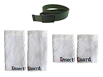 InsectGuard Permethrin Treated Tick & Mosquitoes Insect Repellent Complete Package 3  Gree/White  One Size Fits All Up to Adult Medium