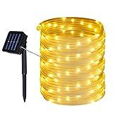 Tuokay 10M 100 LED Guirnalda de Luces Solares, Cadena de Luces Impermeables Lámpara de Ma...