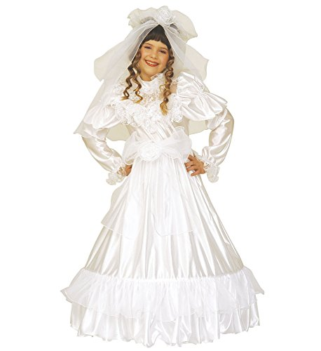 Het kostuumland bruid Michelle kostuum voor meisjes - bruidsjurk en sluiertje prinses koningin sprookjes carnaval
