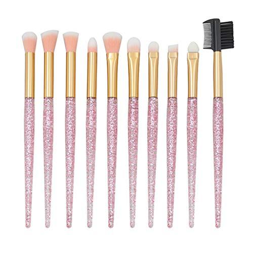 LUCOG 10 Pcs Maquillage Cosmétique Blush Brosse Fondation des Sourcils Poudre Brosses Kit Ensemble Santé Et Beauté Brosse