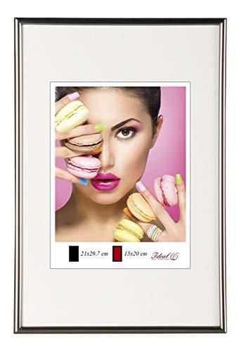 Photo Style Bilderrahmen in 20x30 cm bis 50x70 cm DIN Format Bilder Foto Rahmen: Farbe: Stahl   Format: 50x70
