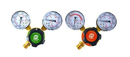 SÜA - Oxygen and Propane/Propylene Regulators Welding Gas Gauges -Pair - Rear Entry - LDP series