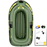 YUESFZ Kayaks gonflables Kayak De Mer A Pedale Bateau De Pêche Spécial en Mer, Bateau À Rames pour Piscine Extérieure, Canoë De Sécurité À Chambre À Air Indépendante (Color : Green-6.3ft-2people a)