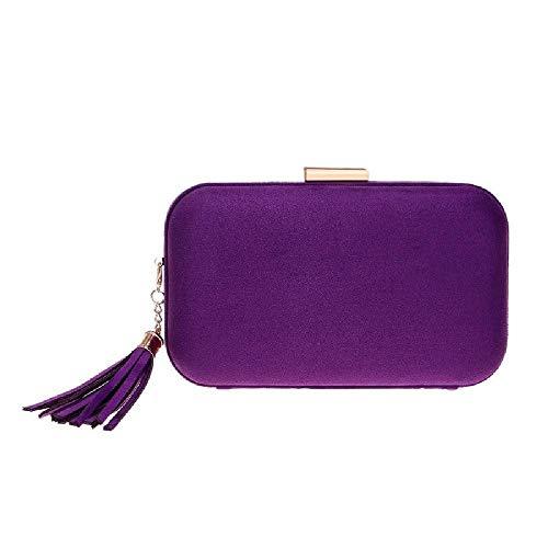 ZLYCP Samtbeutel Abendkleid Abendkleid Abendkleid Abendkleid Abendtasche Samt, Violett - violett - Größe: Einheitsgröße