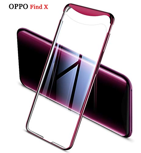ZSCHAO Oppo Find X transparent 360 Grad Hülle Slim Ultra Dünn stossfest Stoßfest +Panzerglas Handyhülle Oppo Find X Hülle Hard Case hart Hybrid Matt Schutzhülle Cover für Oppo Find X (Lila Plating)
