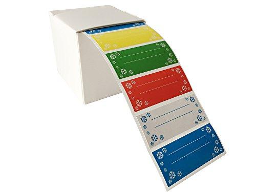Haushaltsetiketten, Gefrieretiketten, Universaletiketten, farbig, 500 Stück