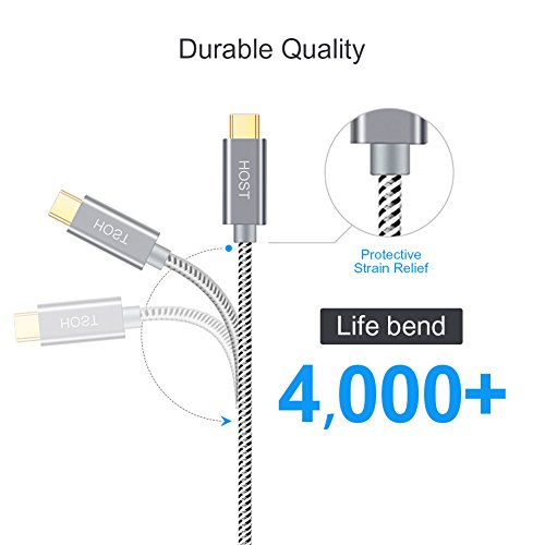 CableCreation USB C auf Micro USB 3.0, USB 3.1 Typ C auf USB Micro-B(Gen2/10Gbps) Kabel, USB C zu Micro B 3.0 Kabel, USB C Verbindungskabel für Apple MacBook Pro, Chromebook Pixel, HDD usw, 30cm/Grau
