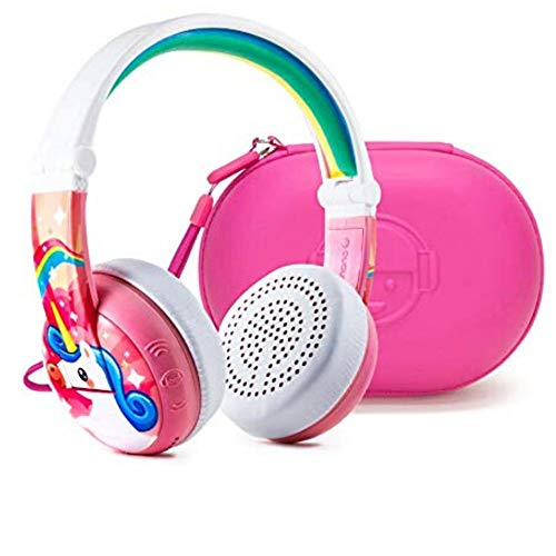 3-Step Volume Limiting Wireless Bluetooth Kids Headphones by Onanoff - Model Wave | Pink
