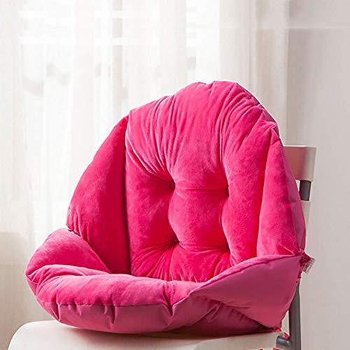 WLT Coussin de siège de coussin de dossier de taille de soutien, coussin de chaise de panier épaissi pour fauteuil roulant chaise de bureau inclinable de siège d'auto Patio-c 48x40cm (19x16inch)