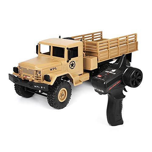 RC Klettern Auto, Creamon WPL B-16 1/16 2,4G 6WD Off-Road RC Klettern Military Truck Crawler Auto Spielzeug Geschenk Gelb