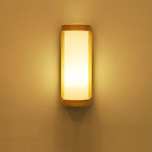 Eenvoudige moderne Nordic wandlamp kamer bed woonkamer gang balkon Xuan Guan IKEA wandlampen LED massief houten wandlamp