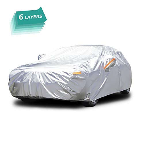 Audew All Weather Car Cover 6 Layer Breathable UV Protection Snowproof Waterproof Dustproof...