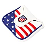 CLISPEED Golf Putter Cover Putter Mazzuolo Copricapo in Pelle Golf Putter Cover Stile Bandiera Usa