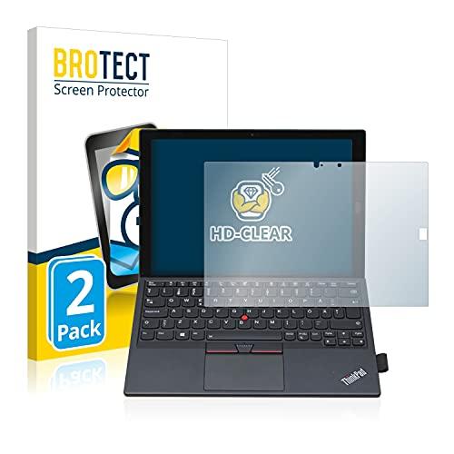 BROTECT Schutzfolie kompatibel mit Lenovo ThinkPad X1 Tablet Gen 2 (2 Stück) klare Bildschirmschutz-Folie