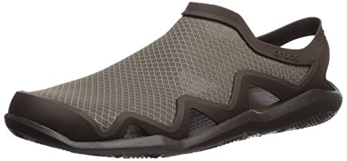 Crocs Herren Swiftwater Mesh Wave M Clogs, Braun (Walnut/Espresso 23j), 45/46 EU