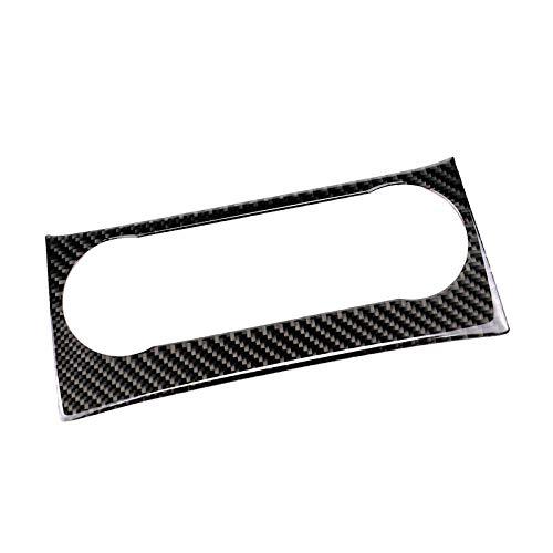 BTOEFE Auto Real Carbon Fiber Klimaanlage Steckdose Audio Control Frame Cover Trim, Für Mercedes Benz C Klasse W204 2010 2011 2012 2013-Typ B.