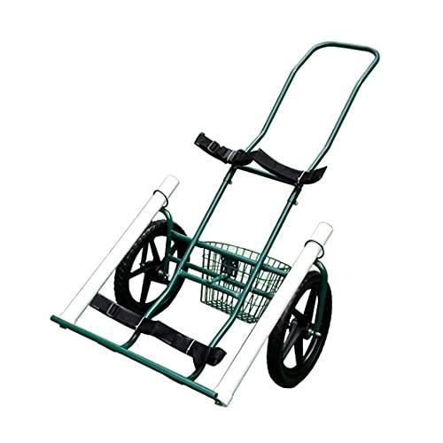 WEDF Carrito de Golf, Carrito de Golf Plegable de 2 Ruedas Carritos de Golf, carritos fletados, carritos, Equipo de Campo, carritos Ajustables de Paquete Simple y Doble