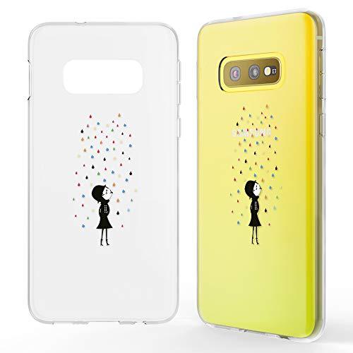 NALIA Hülle kompatibel mit Samsung Galaxy S10e, Motiv Handyhülle Slim Silikon Hülle Cover Schutzhülle Dünn Durchsichtig, Etui Handy-Tasche Backcover Transparent Bumper, Designs:Colorful Rain