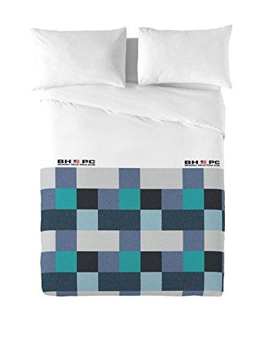 Beverly Hills Polo Club Juego De Funda Nórdica Atlanta Azul/Verde Agua/Blanco Cama 150 (240 x 220 cm + 2/50 x 90 cm)
