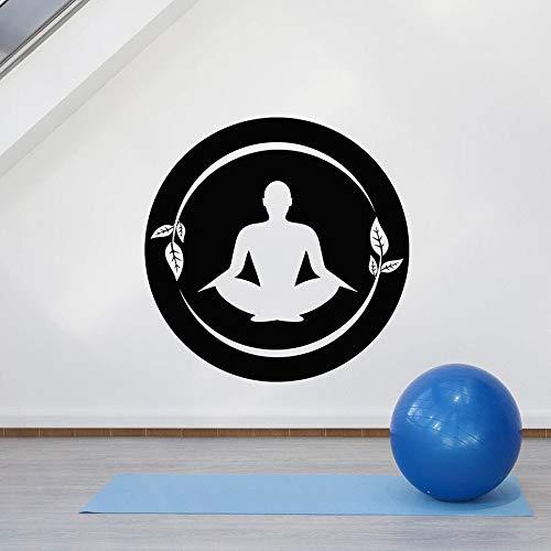 Pose etiqueta de la pared Pose Yoga Center sala de meditación Mantra decoración de interiores vinilo ventana pegatina arte hoja Mural