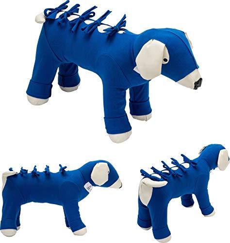 Bendana Postoperativer Anzug für Hunde und Katzen, schützt Wunden und Verbände und lässt dem Tier Seine Bewegungsfreiheit. Modell 091 - Komplettschutz (XXXXS)