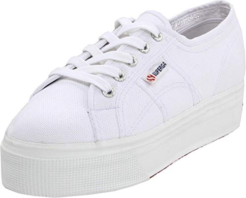 Superga womens 2790 Acotw Platform Fashion Sneaker, White, 8 US