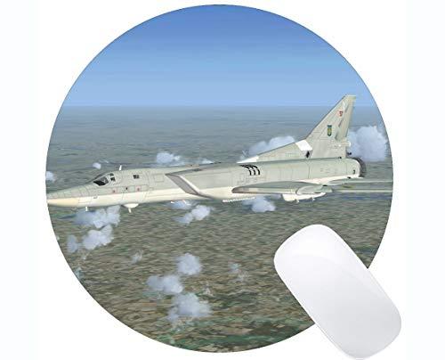 Beste Geschenkidee Runde Mauspad, Fighter Simulator Kreuzfahrt rutschfeste Gummibasis Mousepad