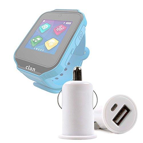 DURAGADGET Cargador Mechero del Coche con Puerto USB para Reloj de niño CEFATRONIC - Smartwatch Clan (105) - ¡No Se Quede Sin Batería Mientras Va Conduciendo!
