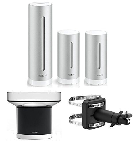 Netatmo Urban Sparset Spezial Wetterstation mit Luftqualitätssensoren für Apple iPhone und Android