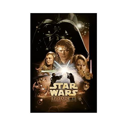 Poster di Star Wars, Revenge Of The Sith, in tela per camera da letto, sport, paesaggio, ufficio, decorazione regalo, senza cornice: 50 x 75 cm
