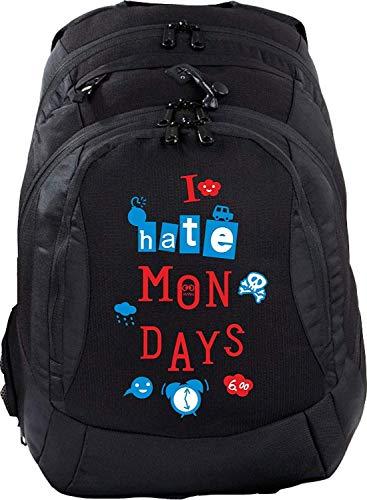 Sac à dos d'écolier Teen Compact Cartable Sac à Dos I Hate Mondays