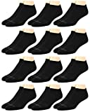 AND1 Men's Athletic Arch Compression Cushion Comfort No Show Socks (12 Pack), Size Shoe Size: 6-12.5, Black