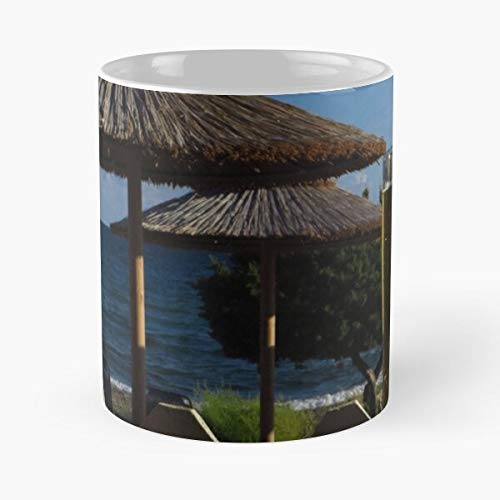 Beach Umbrellas Mythos Beer Classic Mug - Funny Gift Coffee Tea Cup White 11 Oz The Best Gift for Holidays.