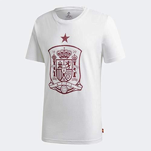 adidas Selección Española Temporada 2020/21 Camiseta DNA, Unisex, Blanco, XS