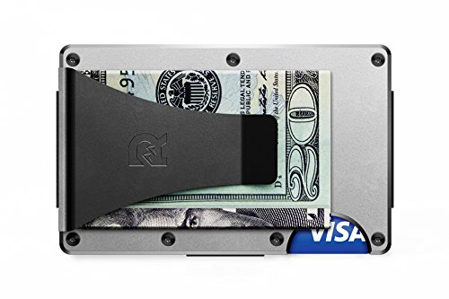 [ザ リッジ] スマートフォンよりも薄い財布 アルミニウム マネークリップ シルバー