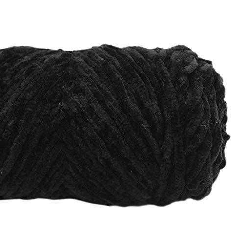 GROOMY Strickfaden, Velvet Chenille Garn für handgestrickten Häkelfaden DIY Craft Scarf Sweater-12