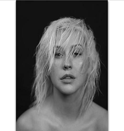 yhnjikl Christina Aguilera Liberation Pop Music Album Cover Imagen Personalizada Poster Art Seda Lienzo Home Room Wall Print Decor 40X60Cm Sin Marco