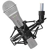 SUNMON Q2U USB/XLR Microphone Shock Mount Holder for Reduces Vibration and Noise, Suitable for Samson Q2U USB/XLR Dynamic Mic