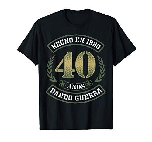 Regalo Original 40 Cumpleaños Hombre y Mujer Hecho en 1980 Camiseta