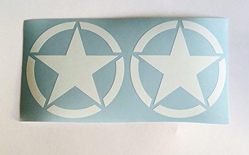 2 x Us Army Stern Weiß Oldschool Auto Aufkleber Tuning Sticker Hotrod Retro Usa