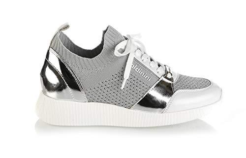 Baldinini 6721 White High Tech. Fabric Sneakers Italian Designer Women Summer