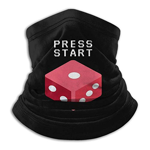 LREFON Pulsa la zona de juego para empezar, presiona el inicio y juega a bandanas unisex sin costuras, cuello y diadema.
