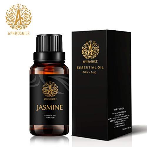 Aromaterapia Olio essenziale gelsomino, 1oz-30ml Aromaterapia Olio essenziale del gelsomino Profumo per diffusore,umidificatore,terapeutico Grade gelsomino fragranza olio essenziale per massaggi,casa