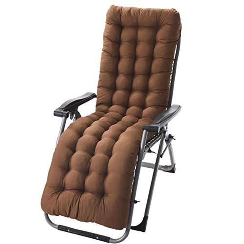 1 Packung Lounge Chair Kissen Indoor Outdoor Chaise Lounge-Kissen mit Kappe perfekt for Garten Innenhof Matratze for Zero Gravity Chair (Color : Brown, Size : 125cm×48cm×8cm)