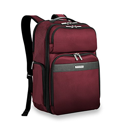 Briggs & Riley Transcend-Cargo Backpack, Merlot, One Size